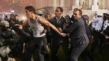 Channing Tatum, left, and Jamie Foxx, in White House Down. (Reiner Bajo/AP)