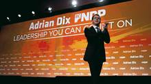 B.C. NDP Leader Adrian Dix leaves the stage after speaking at the 50th anniversary B.C. NDP convention in Vancouver, British Columbia, on Sunday, Dec. 11, 2011. (Rafal Gerszak/The Globe and Mail/Rafal Gerszak/The Globe and Mail)