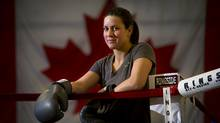 Canadian boxer and Olympic hopeful Mary Spencer poses for a portrait at her home gym in Windsor, Ont. March 13/2012. (Photo by Kevin Van Paassen/The Globe and Mail) (Kevin Van Paassen/Kevin Van Paassen/The Globe and Mail)