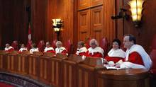 Supreme Court of Canada judges are shown at a ceremony at the Supreme Court in Ottawa in 2009. (CHRIS WATTIE/REUTERS/CHRIS WATTIE/REUTERS)