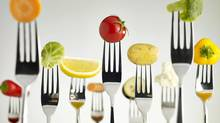 Raw Foods On Forks (Gerenme/Thinkstock)