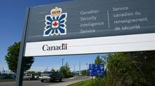A sign for the Canadian Security Intelligence Service building is shown in Ottawa, Tuesday, May 14, 2013. (Sean Kilpatrick/THE CANADIAN PRESS)