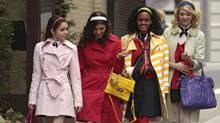 "A fashion-heavy scene from ""Gossip Girl"" (Courtesy of CW Network)"