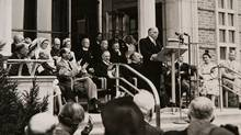 1948 - Sunnybrook Veterans' Hospital opens as the largest veterans' hospital in Canada, standing as a symbol of the nation's gratitude to its war veterans.William Lyon Mackenzie King visits to open the building. (Supplied)