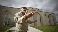 Outside the Grand Mosque and Islamic Centre in Winnipeg on Oct. 1, 2010, Ghassain Joundi, past president of Manitoba Islamic Association, comments on a Globe and Mail story about three Winnipeg men who attended his mosque and are thought to be in Pakistan. (John Woods/John Woods for The Globe and Mail)