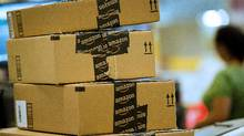 Amazon boxes are seen in this file photo. (David Paul Morris/Bloomberg)