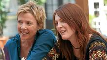 Annette Bening (left) and Julianne Moore play a lesbian couple in The Kids Are All Right. (Suzanne Tenner)