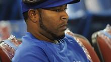 Toronto Blue Jays outfielder Edwin Encarnacion is photographed during batting practice prior to the Jays home opener against the Boston red Sox at the Rogers centre on April 9 2012. (Fred Lum/Fred Lum/The Globe and Mail)