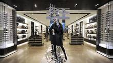 Burberry store on Toronto's Bloor St West: 'With the things we can control we feel very positive,' CEO Angela Ahrendts says. (Fred Lum/The Globe and Mail)