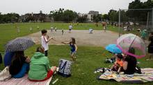 The TDSB is seeking to sever a 2-acre plot of green space from a school in North York so that it can sell it to raise money for infrastructure projects. (Matthew Sherwood For The Globe and Mail)