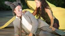 "John Cleland and Tamara Podemski in ""A Midsummer Night's Dream"" (Chris Gallow)"