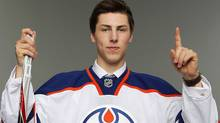 First overall pick Ryan Nugent-Hopkins by the Edmonton Oilers poses for a photo portrait during day one of the 2011 NHL Entry Draft at Xcel Energy Center on June 24, 2011 in St Paul, Minnesota. (Photo by Nick Laham/Getty Images) (Nick Laham//Getty Images)