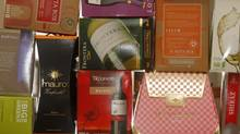 None of these imported boxed wines are available in Canada's most populous province. Imported boxes of wine for Beppi Crosariol column, Toronto January 04, 2012. Photo by: Fernando Morales/The Globe and Mail. (Fernando Morales/The Globe and Mail)