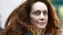 A Wednesday, June 13, 2012 file photo shows Rebekah Brooks, former chief executive of News International, leaving Westminster Magistrates' Courts. (Sang Tan/AP)