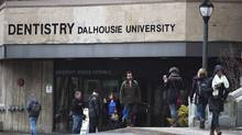 The Dalhousie University dentistry building is seen in Halifax on Jan. 12, 2015. (ANDREW VAUGHAN/THE CANADIAN PRESS)