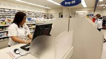 Shoppers Drug Mart's prescription and drug counter at a Toronto outlet. (Deborah Baic/Deborah Baic)