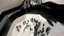 Inside Maxxi museum of contemporary art and architecture in Rome. The museum was designed by Iraqi-born architect Zaha Hadid. (REUTERS/Max Rossi/REUTERS/Max Rossi)