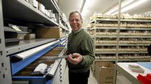 Jim Lotimer, CEO of Lotek Wireless, Fish and Wildlife Monitoring, with some of his company's products in the company's lab and production floor in Newmarket, Ont. (Deborah Baic/The Globe and Mail/Deborah Baic/The Globe and Mail)
