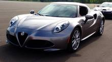 The 2015 Alfa Romeo 4C. (Darren McGee/The Globe and Mail)