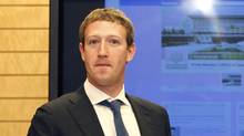 After Facebook's IPO, founder Mark Zuckerberg will still control more than 57 per cent of the company. (YURIKO NAKAO/AP)