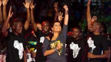 'I can't wait for We Day,' says singer Nelly Furtado, who also participated in last year's event and is currently promoting her new album. (Courtesy of Free the Children)