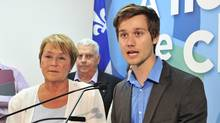 Pauline Marois and Léo Bureau-Blouin last August: To their collective detriment, all parties are likely to side-step a key issue fuelling the discontent that manifested in the largest student strike in Canadian history. (Paul Chiasson/The Canadian Press)