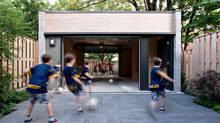 Courtyard of a Toronto home by Denegri Bessai Architects. (Jesse Jackson)