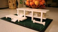 The Lego Farnsworth House includes a booklet of the house's history. Farnsworth House, part of the Lego architecture series. (Dave LeBlanc for the Globe and Mail)