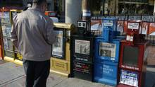 Newspaper boxes in Toronto (Louie Palu/The Globe and Mail)