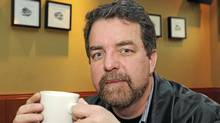 Author Will Ferguson in a Calgary coffee shop. (Larry MacDougal)