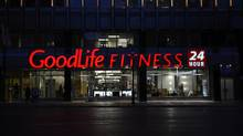 The GoodLife Fitness gym in downtown Toronto. (Fred Lum/The Globe and Mail)