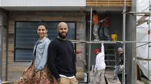 Alkarim Devani, right, owner of Beyond Homes, and his wife Majida want to build more than just a dozen homes a year, but they need additional financial capacity to pull it off. (Chris Bolin For The Globe and Mail)