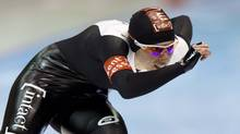 Christine Nesbitt of Canada competes during the women's 1000m event at the Essent ISU speed skating World Cup in Heerenveen, March 9, 2013. (MICHAEL KOOREN/REUTERS)