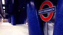 The New North Greenwich underground station on the Jubille line extension. Credit: QA Photos. (QA Photos)