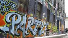 A selection of the graffiti that is on the walls in the area west of Spadina, in the alleys off Queen Street West in Toronto (Peter Power/Peter Power/The Globe and Mail)