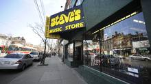 Exteriors of Steve's Music store located on Queen St. West (Fred Lum/The Globe and Mail/Fred Lum/The Globe and Mail)