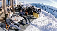 Kicking back on the Eagles Eye patio at Kicking Horse ski resort. (Kicking Horse Resort)