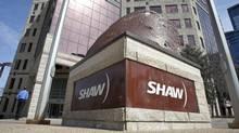 Shaw Communications headquarters in Calgary. In the latest quarter, revenue, operating income and cash flow all fell at the company. (Jeff McIntosh/The Canadian Press)