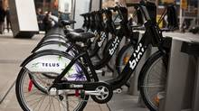 BIXI bicycles in Toronto.
