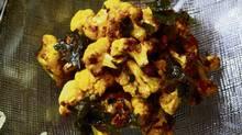 David Lee's roasted curried cauliflower (Deborah Baic/The Globe and Mail)