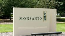 The entrance to the Monsanto Company headquarters in a St. Louis. (JAMES A. FINLEY/AP)