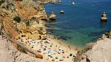 Camilo beach, one of several along the coast in Lagos, Portugal. (Natalie Stechyson for The Globe and Mail)