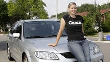 Sami Jo Small, a three-time Olympian and five-time world champion, purchased a used Mazda Protege5 last year. (Fernando Morales/The Globe and Mail)