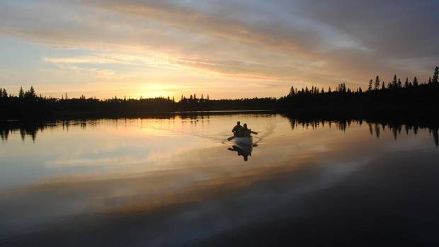 A canoe ride on Christopher Lake in North Central Saskatchewan (Photo courtesy of Karen Wasylyk, co-owner of Flora Bora Forest Lodging)
