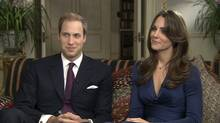 TOM BRADBY POLITICAL EDITOR, ITV NEWS interviews Prince William and fiancee Kate Middleton. (ITV NEWS/ITV NEWS)