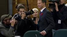 Nigel Wright, chief of staff for Prime Minister Stephen Harper, appears as a witness at the Standing Committee on Access to Information, Privacy and Ethics on Parliament Hill in Ottawa, Nov. 2, 2010. (Adrian Wyld/The Canadian Press)