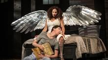 Raquel Duffy and Damien Atkins perform in Angels in America (Soulpepper). (Cylla von Tiedemann)