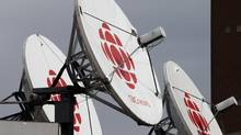 Satellite dishes sits on the roof of one of the CBC studios in Halifax. (Andrew Vaughan/The Canadian Press)