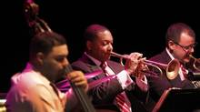 The Jazz at Lincoln Center Orchestra is a fifteen-piece big band, led by Wynton Marsalis, which performed at Massey Hall in Toronto on Feb. 1, 2011. (Peter Power/The Globe and Mail)