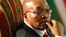 South Africa's President Jacob Zuma looks on during the swearing in of his new cabinet at the presidential guest house in Pretoria, May 11, 2009. (Siphiwe Sibeko/Reuters)